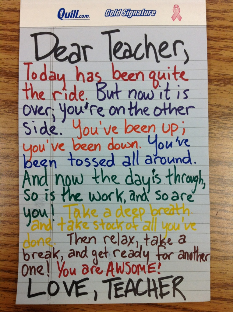 Essay on appreciating teachers