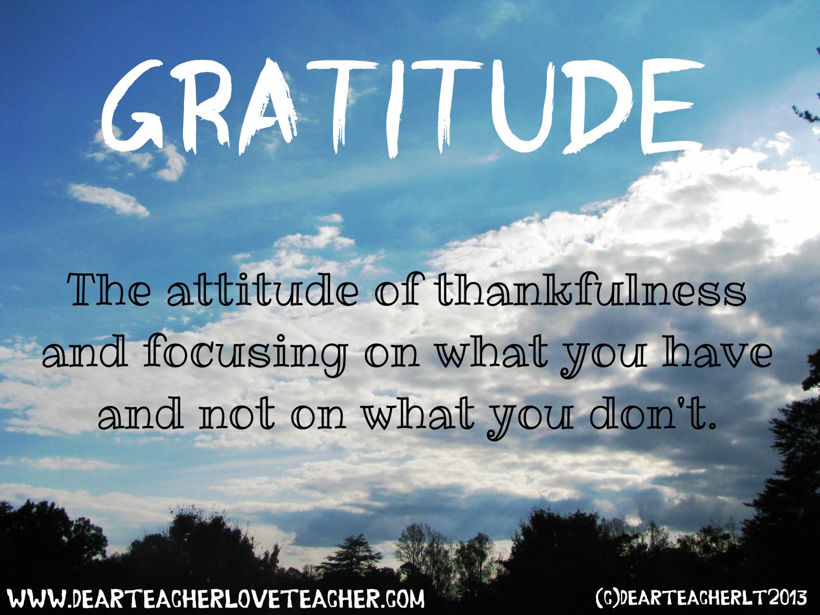 Gratitude to the teacher